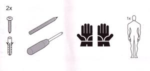 Piktogramme einer Bedienungsanleitung