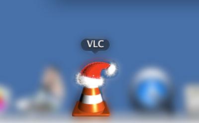 Computerprogrammicon mit Weihnachtsmütze