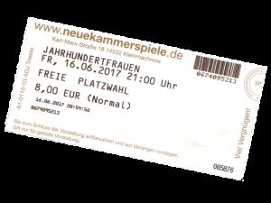 """Kinoeintrittskarte """"Jahrhundertfrauen"""""""